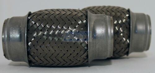 2x Edelstahl Flexrohr Flexstück flexibles Krümmerrohr Hosenrohr Ø 40mm x 100mm