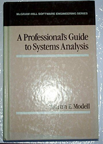 Professional's Guide to Systems Analysis (The McGraw-Hill international series,