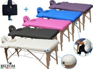 Table De Massage 2 Zones Portables Cosmetique Lit Esthetique