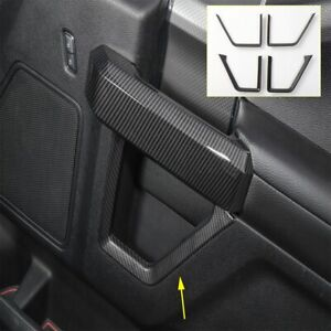 Black Car Inner Door Grab Handle Decoration Trim Cover for 2015 2016 2017 2018 Ford F150