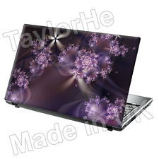 "15.6"" Laptop Skin Cover Sticker Decal Purple Flowers 48"