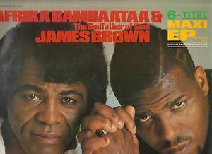 "AFRIKA BAMBAATAA & THE GODFATHER OF SOUL JAMES BROWN DISCO MAXI EP 12"" UNITY - Italia - AFRIKA BAMBAATAA & THE GODFATHER OF SOUL JAMES BROWN DISCO MAXI EP 12"" UNITY - Italia"