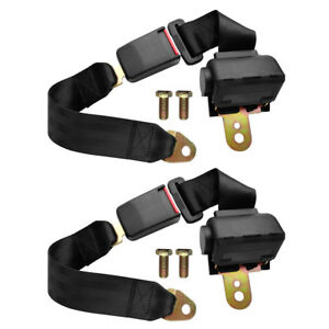 Universal 2 Point Adjustable Retractable Auto Car Safety Seat Belt for All Car