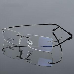fe4a5e7719e Image is loading Ultra-Light-Titanium-Mens-Womens-Myopia-Glasses-Rimless-