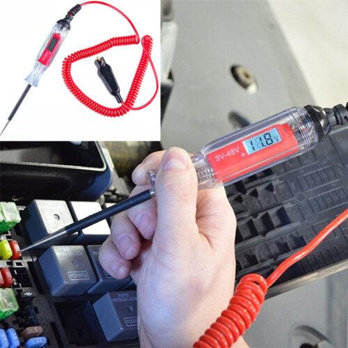 48v DC Tensione revisore tastkopf circuito strumento VoltMeter Auto Rimorchio 3v