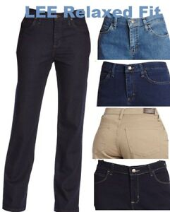 Lee Jeans Women S Relaxed Fit Straight Leg Pants Stretch Jean Variation New Ebay