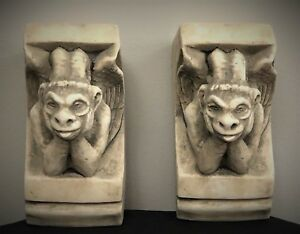 Image Is Loading GARGOYLE OF NOTRE DAME CORBEL BRACKET ARCHITECTURAL ACCENT