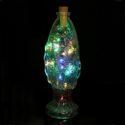 10LED Solar Power Weinflasche Cork Shaped String Licht Nacht Fairy Light Lamp