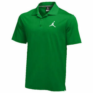 Nike-Jordan-Polo-Golf-Shirt-Jumpman-Green-White-865856-341-Men-039-s-NEW