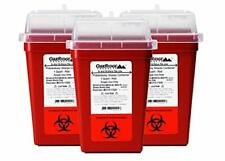 1 Quart Size Pack Of 3 Sharps Disposal Container Approved For Home And