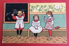 CPA. Publicité À LA BELLE JARDINIERE. Petites Filles. École. Tableau Noir.