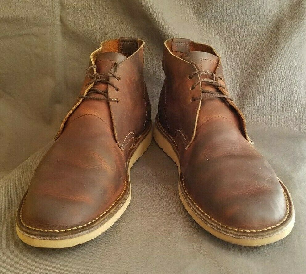 Men's Marroneee Leather rosso WING 3322 Weekender Chukka stivali Sz-11 Sz-11 Sz-11 Made in USA a89aaa