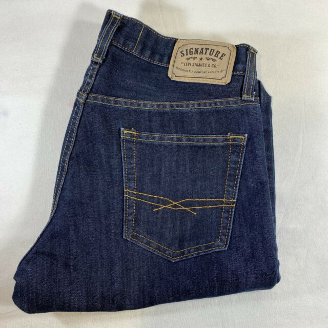 Signature Levi Strauss & CO Slim Straight  Fit Jeans Men's Size 30x30