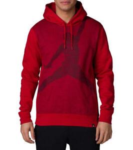 8686595ba801db Air Jordan Men s Jumpman Brushed Graphic Hoodie Gym Red Black 834369 ...