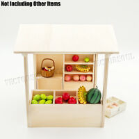 Wooden Miniature Display Shop Shelving Cabinet Show Case Counter 1:12 Dollhouse