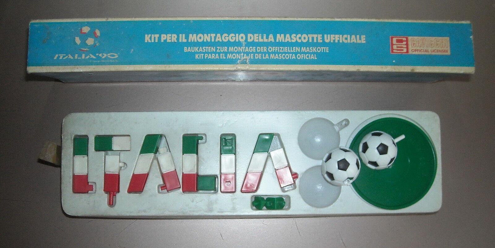 CALCIO E CALCIATORI_SPORT_PALLONE_COSTRUZIONE MASCOTTE ITALIA_TRIFarbeE_D'EPOCA