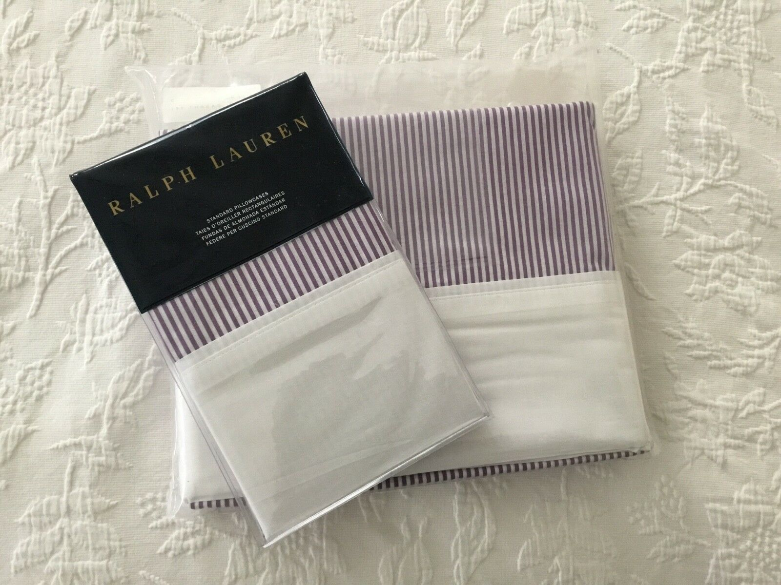 RALPH LAUREN FAIRVIEW   GREAT COMPTON QUEEN FLAT AND STANDARD CASES W DEFECT