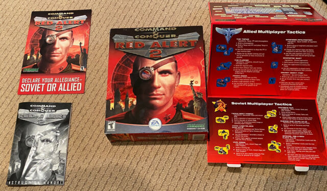Command & Conquer: Red Alert 2 (PC, 2000) Box and Inserts Only
