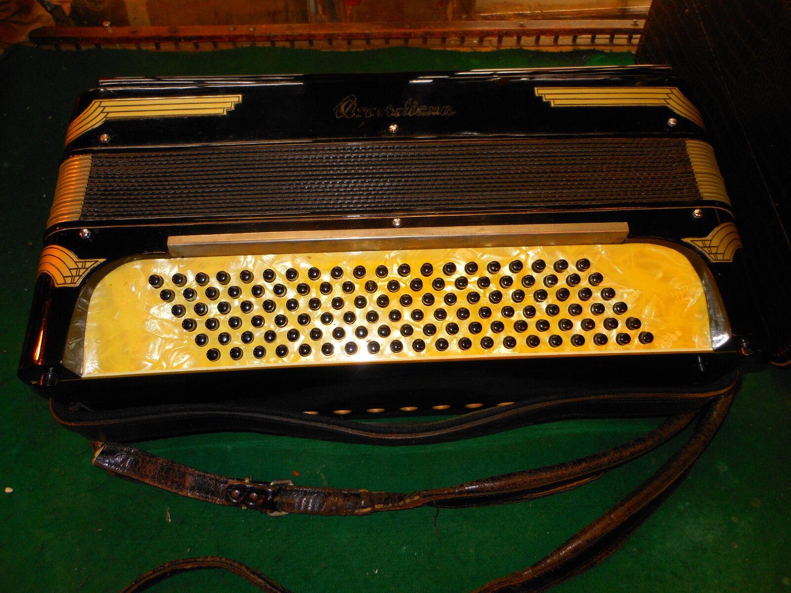 Excelsior Accordiana - Antique 4 5 Reeds Reeds Reeds Sounds Incrotible - Vintage Accordion 8d5e5f