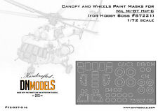 Canopy and Wheels Paint Mask 1/72 Mil Mi-8T Hip-C for Hobby Boss 87221 DN Models