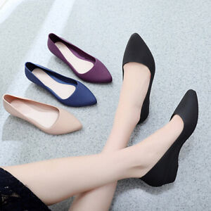 US-Womens-Suede-Boat-Shoes-Casual-Slip-On-Flats-Shoes-Loafers-Ballet-Shoes-FIT