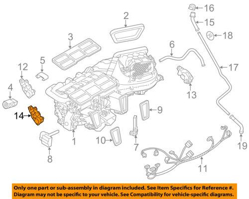PORSCHE OEM 10-16 Panamera 4.8L Evaporator Heater-Adjust Motor Left 97057384100