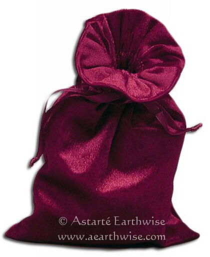 1 x LUSH VELVET BAG CRYSTAL BAG SPELL BAG Wicca Witch Pagan Goth TAROT POUCH
