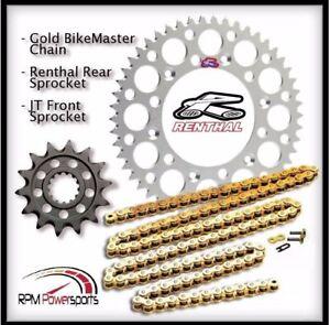 Renthal Silver Sprocket and Gold Chain Kit Suzuki Rmz450 Rmz 450 2013-15 14-52T