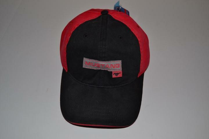 Ford Mustang Black Gt Shelby   Red Black Mustang Cap Hat One Size New Bb