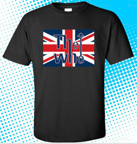 New The Who Live In UK Men/'s Black T-Shirt Size S to 3XL