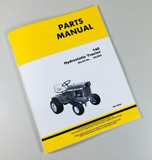 Parts Manual For John Deere 140 Hydrostatic Tractor Catalog Book Sn 0 30000