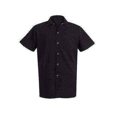 Chef Designs 5035 Black Cook Shirt size M, L, XL.