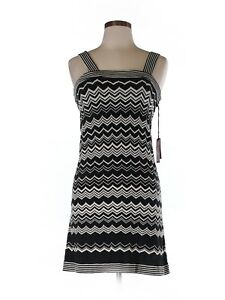 4f19f45190a Details about New Women Missoni For Target White Black Chevron Sweater Dress  Size M
