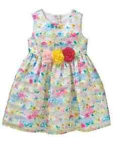 206da197e5cb9 Image is loading Toddler-Girls-Pink-Yellow-amp-Green-Shimmer-Satin-