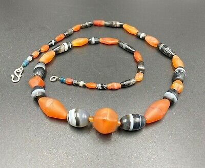 Antique Old Ancient Rare Beads Necklace From South East Asia Burma Ebay