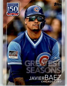 Details about 2019 Topps Update JAVIER BAEZ 150 Years Greatest Seasons Cubs #150-88