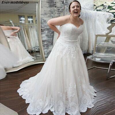 Plus Size Wedding Dresses Strapless Appliques Corset Back ...