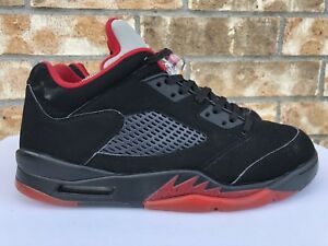 new style 3f6e0 a4fdd Details about Men's Nike Air Jordan 5 V Retro Low Alternate 90 Black Red  Size 10 819171 001