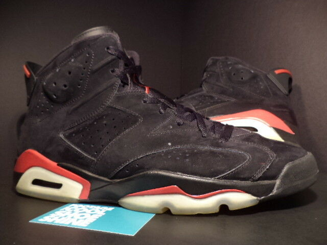 2018 Nike Air Jordan VI 6 retro Wild negro varsity rojo blanco 384664-061 13 Wild retro Casual Shoes f23a81