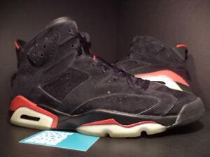 super popular cf3ee 159d7 Image is loading 2010-Nike-Air-Jordan-VI-6-Retro-BLACK-