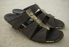 Donald J Pliner Women's Hizzy Stretch Sandals Slides Gray Sz. 7 M $250