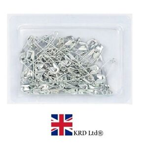 New Small Medium Large 130Pcs Assorted Safety Pins Silver Metal Chrome Sewing UK