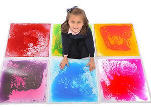 Carrelage de sol liquide-jouets éducatifs sensoriels spéciaux 50cm X rose, violet, rouge en rupture de stock, bleu, vert en stock, orange, 6 rose, 6 violet, 6 bleu, 6 vert, 6 orange, 6 rouge   , 6 couleurs différentes
