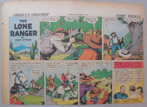 Lone Ranger Sunday Page by Fran Striker and Charles Flanders from 11//3//1940