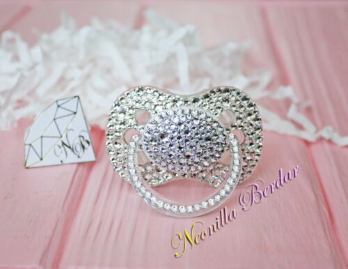 Bling dummy Pacifier with Swarovski Crystals Bling pacifier Baby Shower Gift