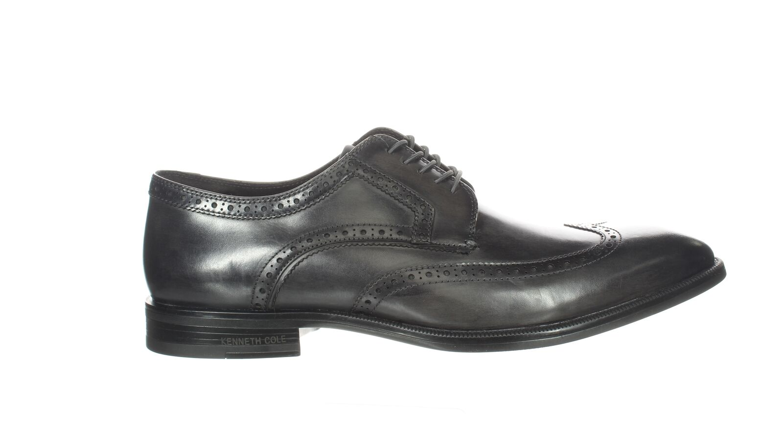Kenneth Cole Mens Futurepod Lace Up Grey Wing Tips Size 12 (2126954)