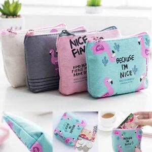 Animal-Flamingo-Cute-Mini-Shopping-Wallet-Bag-Purse-Organizer-Pouch-Coin-Bag-uf