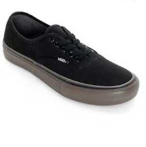 f199ab1ef8405c NEW IN BOX MEN S 7 VANS AUTHENTIC PRO CANVAS BLACK GUM SKATE SHOES ...