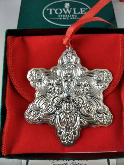 Towle Sterling Silver 1996 Old Master Snowflake Christmas ...
