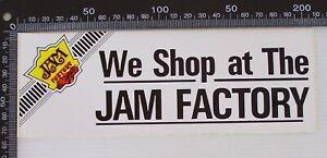 VINTAGE-WE-SHOP-AT-THE-JAM-FACTORY-MELBOURNE-AUSTRALIA-ADVERTISING-PROMO-STICKER